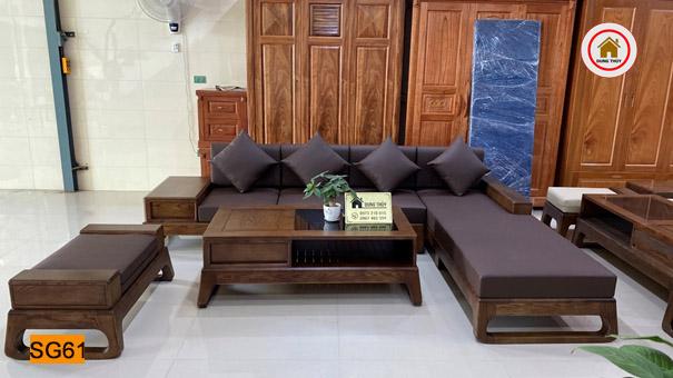 ghế sofa góc chữ L chân quỳ SG61