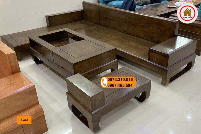 ghế sofa chân cuốn gỗ sồi Nga SG61