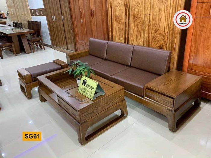 sofa văng chân quỳ gỗ sồi Nga SG61