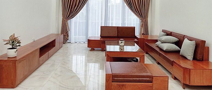 kê sofa gỗ tự nhiên cho phòng khách