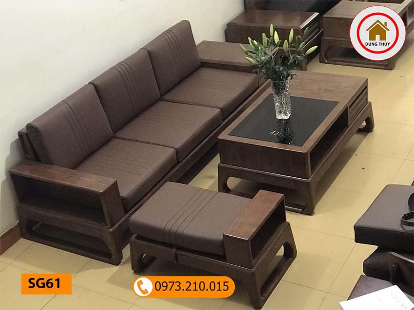 Bộ ghế sofa chân quỳ gỗ sồi Nga SG61