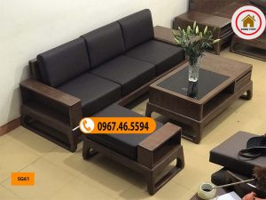 sofa gỗ phòng khách nhỏ giá rẻ SG61