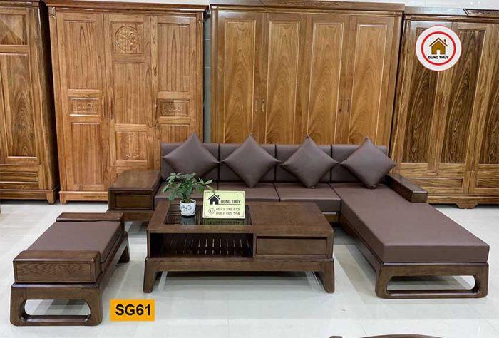 sofa góc chữ L chân quỳ SG61