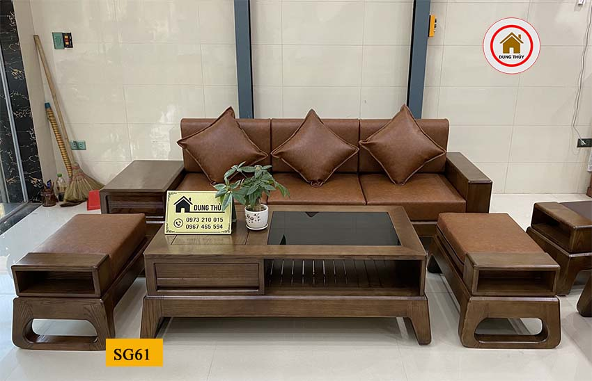 sofa văng đẹp chân quỳ SG61