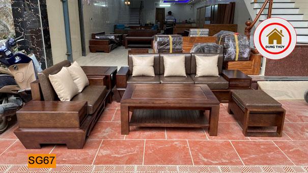 bộ sofa 2 văng chân thuyền SG67
