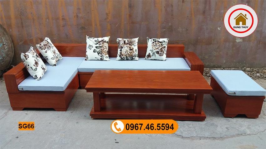sofa nguyên khối gỗ xoan đào SG66