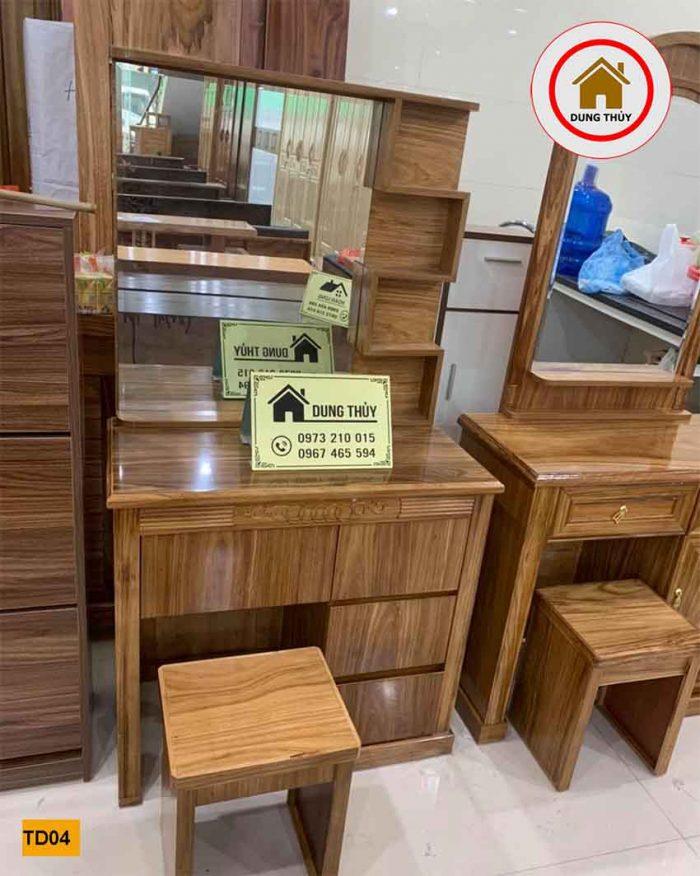 bàn trang điểm gỗ hương xám TD04
