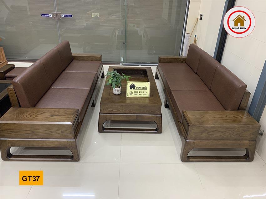 Bộ ghế đối chân quỳ gỗ sồi Nga GT37