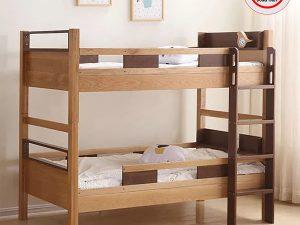Giường ngủ trẻ em 2 tầng gỗ sồi Nga GN19