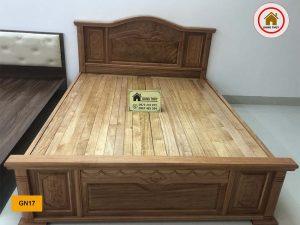 Giường ngủ mặt nan kiểu truyền thống gỗ đinh hương GN17