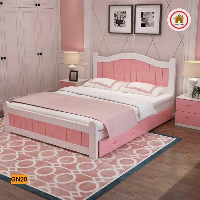 Giường ngủ trẻ em 2 ngăn kéo gỗ công nghiệp GN20