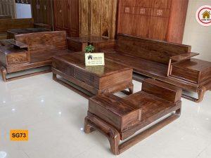 Bộ ghế sofa hình đùi gà gỗ hương xám SG73
