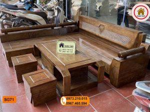 Bộ ghế sofa góc kim cương gỗ sồi Nga SG71