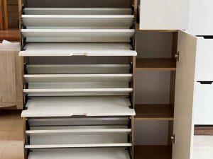 Tủ giầy dép 3 tầng cánh lật 1 hộc gỗ công nghiệp TGD05