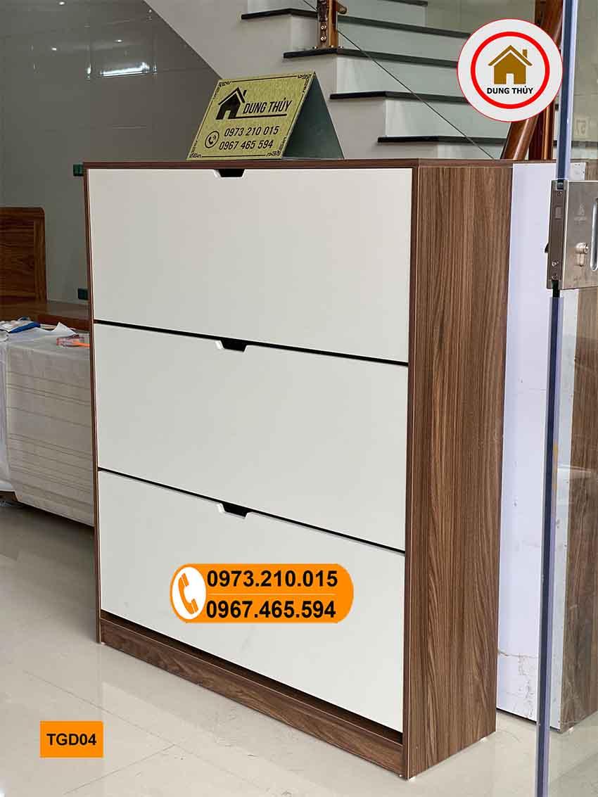tủ đựng giầy dép cánh lật gỗ công nghiệp TGD04