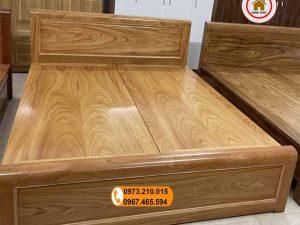 Giường ngủ 2 ngăn kéo gỗ gõ đỏ GN22
