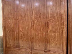 Tủ đựng quần áo 4 cánh 2 buồng gỗ hương đá TG14