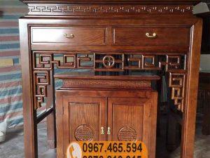 Án ban thờ 2 ô tủ gỗ sồi Nga BT02