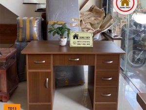 Bàn trang điểm kết hợp bàn làm việc 6 ngăn kéo gỗ công nghiệp TD13