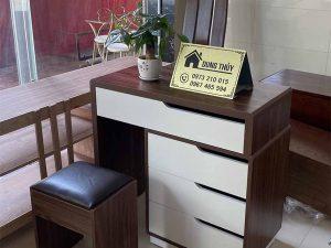 Bàn phấn trang điểm kết hợp bàn làm việc gỗ công nghiệp TD12