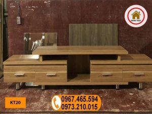 Kệ tivi chân rút 5 ô gỗ công nghiệp KT20