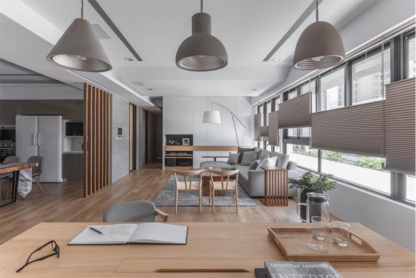 nội thất phòng khách liền phòng bếp