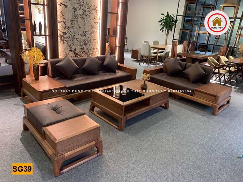 tăng tuổi thọ sofa gỗ phòng khách