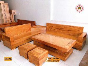 Bộ ghế sofa góc để lọ hoa gỗ gõ đỏ SG76