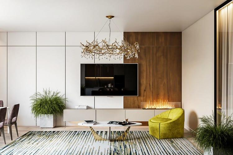 thiết kế nội thất phòng khách cho chung cư