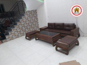 bàn ghế sofa phòng khách chung cư nhỏ