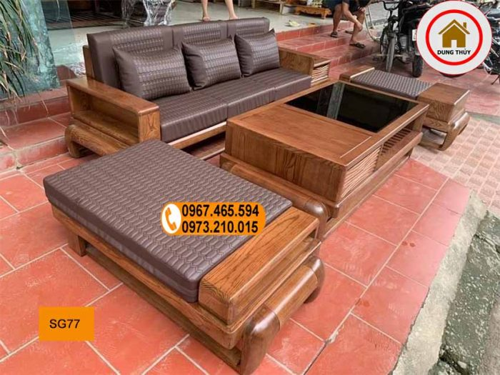 Bộ ghế sofa đùi gà gỗ sồi Nga SG77