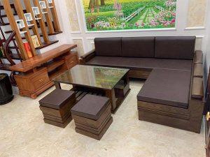 combo sofa gỗ sồi Nga đẹp