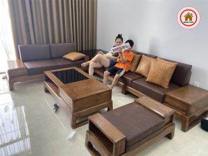 sofa 2 văng chân quỳ SG39