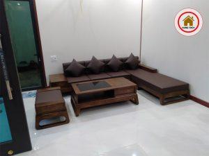 mẫu ghế sofa gỗ góc chữ L hiện đại