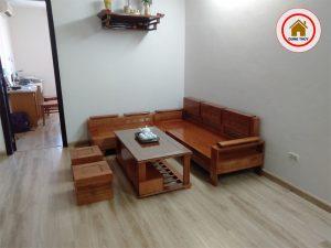 Sofa góc trứng nhỏ gỗ sồi Nga SG05