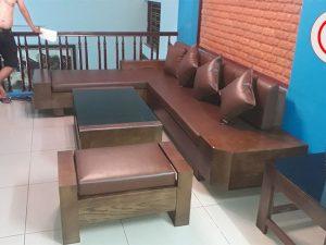 bộ sofa ngăn kéo vát lục lăng SG22
