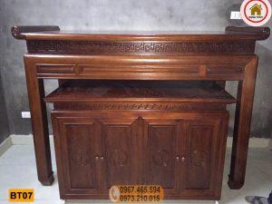Án gian thờ gỗ hương xám BT07