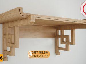 Bàn thờ treo tường gỗ công nghiệp BT06