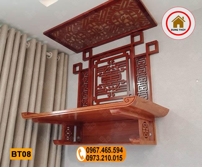 bàn thờ treo tường gỗ hương đá BT08