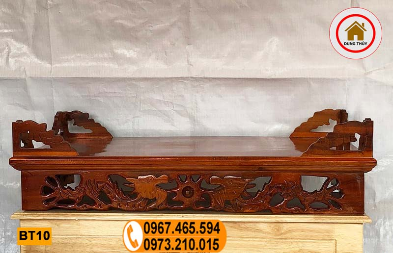 Bàn thờ treo tường gỗ xoan đào BT10