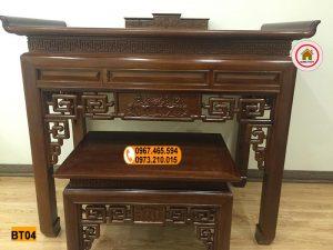 Kệ bàn thờ gỗ sồi Nga 2 tầng BT04