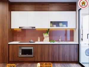 Tủ bếp dạng đứng đơn giản gỗ công nghiệp TB06