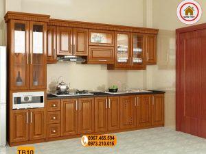 Tủ bếp dạng đứng gỗ gõ đỏ TB10