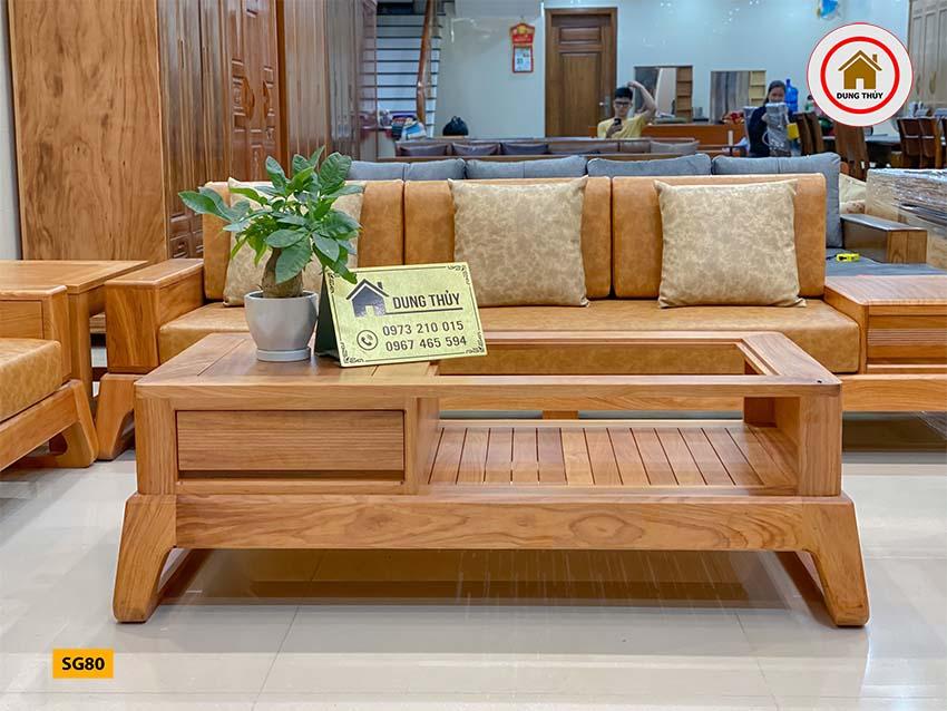 sofa gỗ gõ đỏ SG80