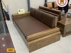 Ghế sofa văng đơn gỗ sồi Nga SG81