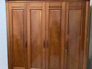 Tủ quần áo 4 cánh 3 buồng gỗ xoan đào TG21